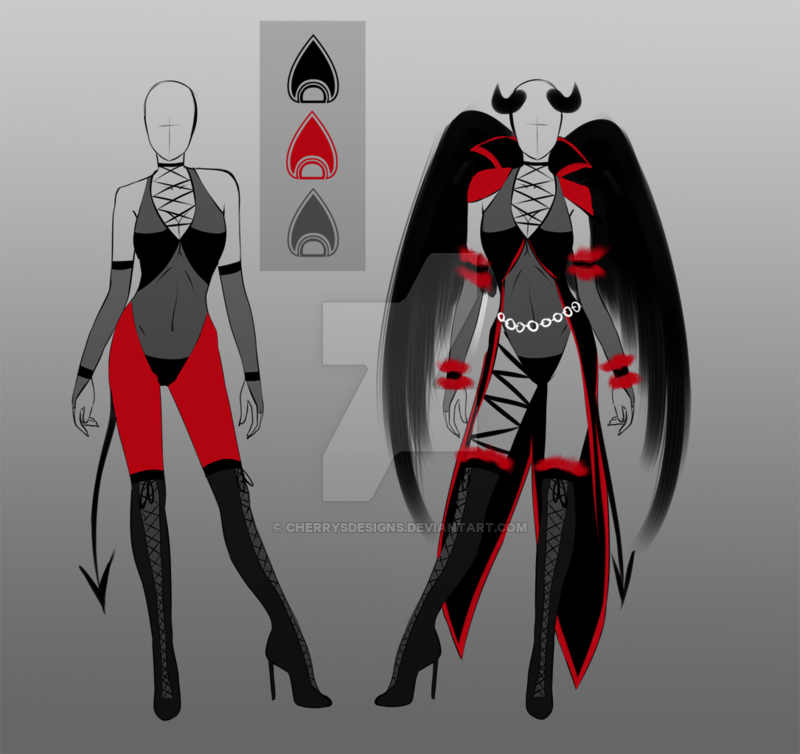 (OPEN) Outfit adopt - Wrestler/Evil witch 2in1 by CherrysDesigns on DeviantArt