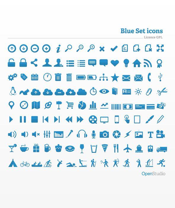 Free Blue Icon Set App Icon Design Icon Set Web Design Freebies