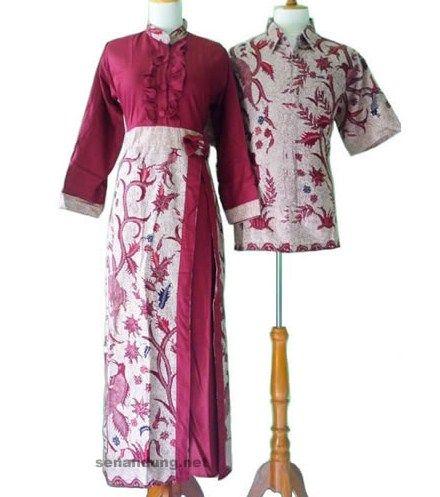 Model baju gamis batik kombinasi satin | Model Gamis ...