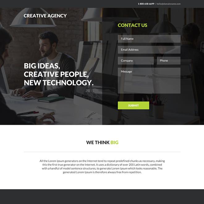 Creative Web Design Agency Responsive Landing Page Best Landing Page Design Web Development Design Creative Web Design
