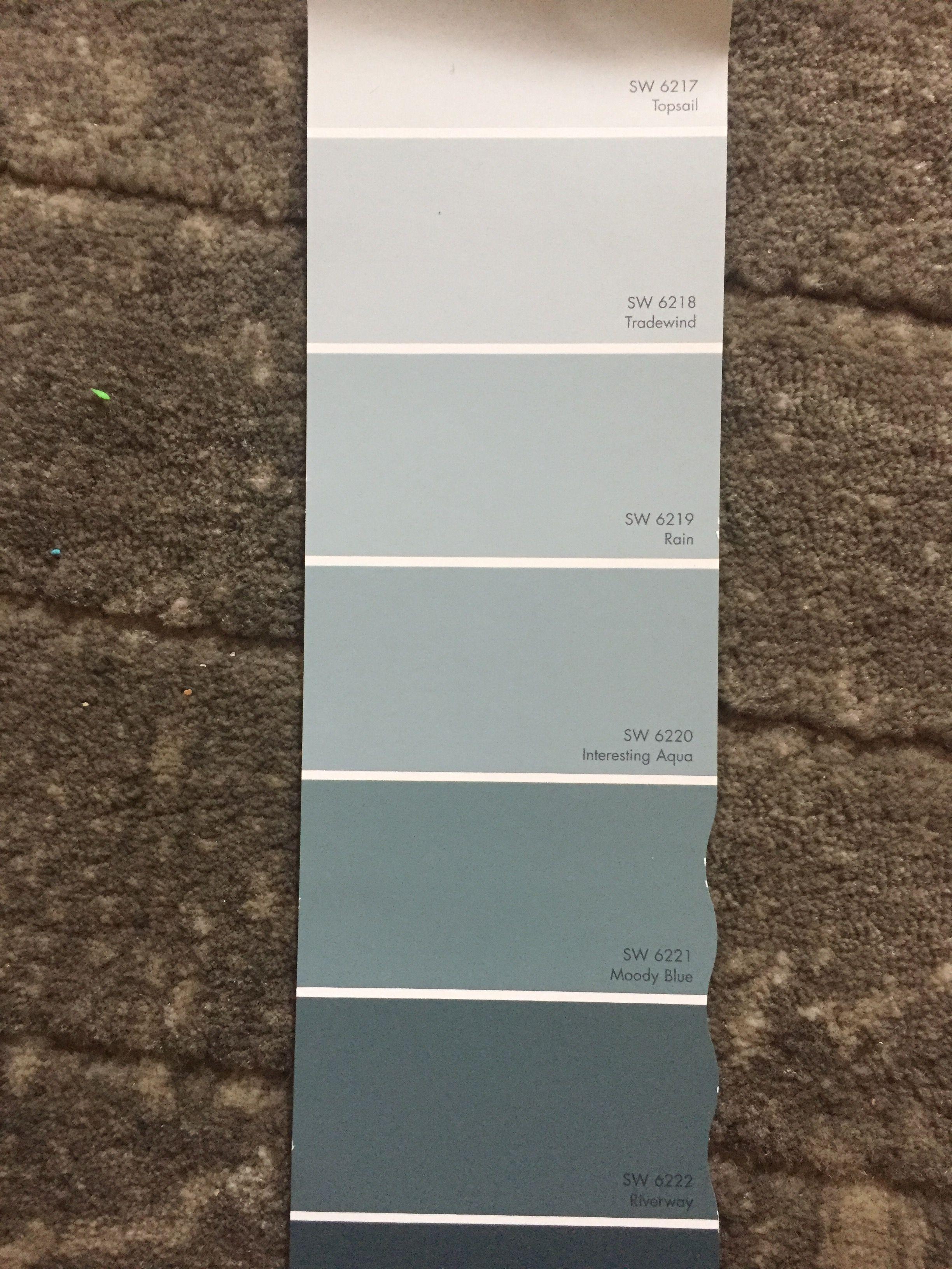 Sherwin Williams Tradewind Topsail Rain Bedroom Paint Colors