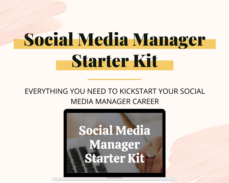 Social Media Manager Starter Kit Minimalist Social Studio Co In 2021 Freelance Social Media Social Media Strategy Template Social Media Manager Checklist