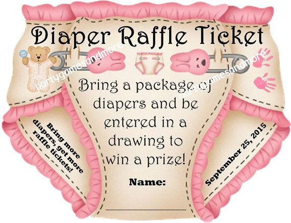 25 Unique Personalized Baby Shower Party Favor Diaper Invitation Raffle Tickets 2 Cut To Shape Of Blue Pink Green Or Yellow Via Etsy