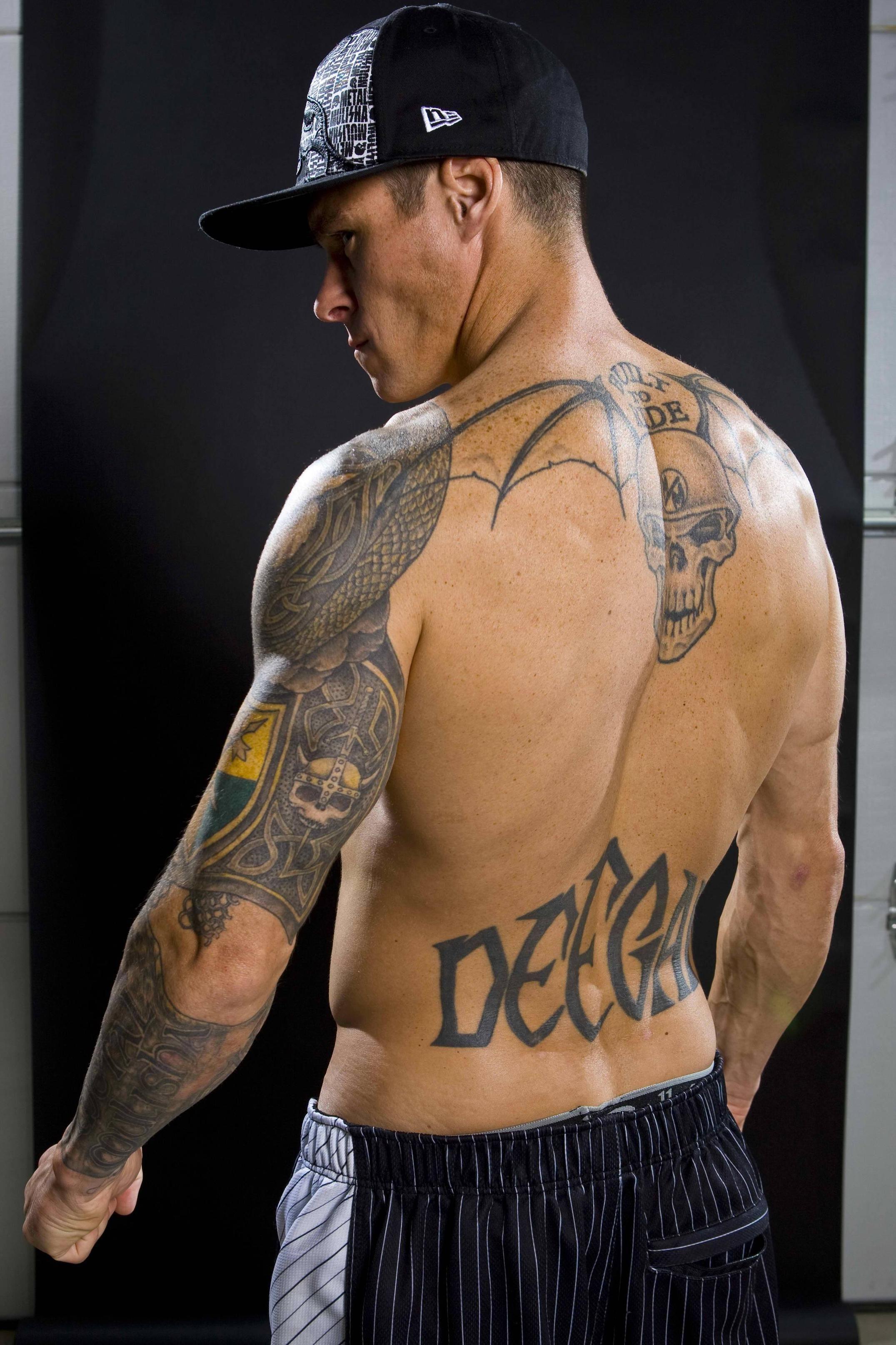 Back Left lower arm Left upper arm Lower back  tattoo