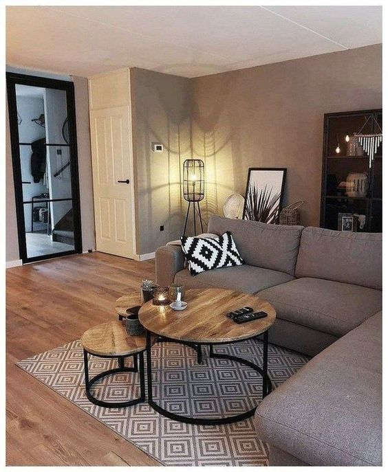 Gray Theme Room Design Ideas For Gorgeous And Elegant Spaces Color Gray Home Design Small Living Room Decor Small Apartment Living Room Small Living Rooms #small #gray #living #room #ideas