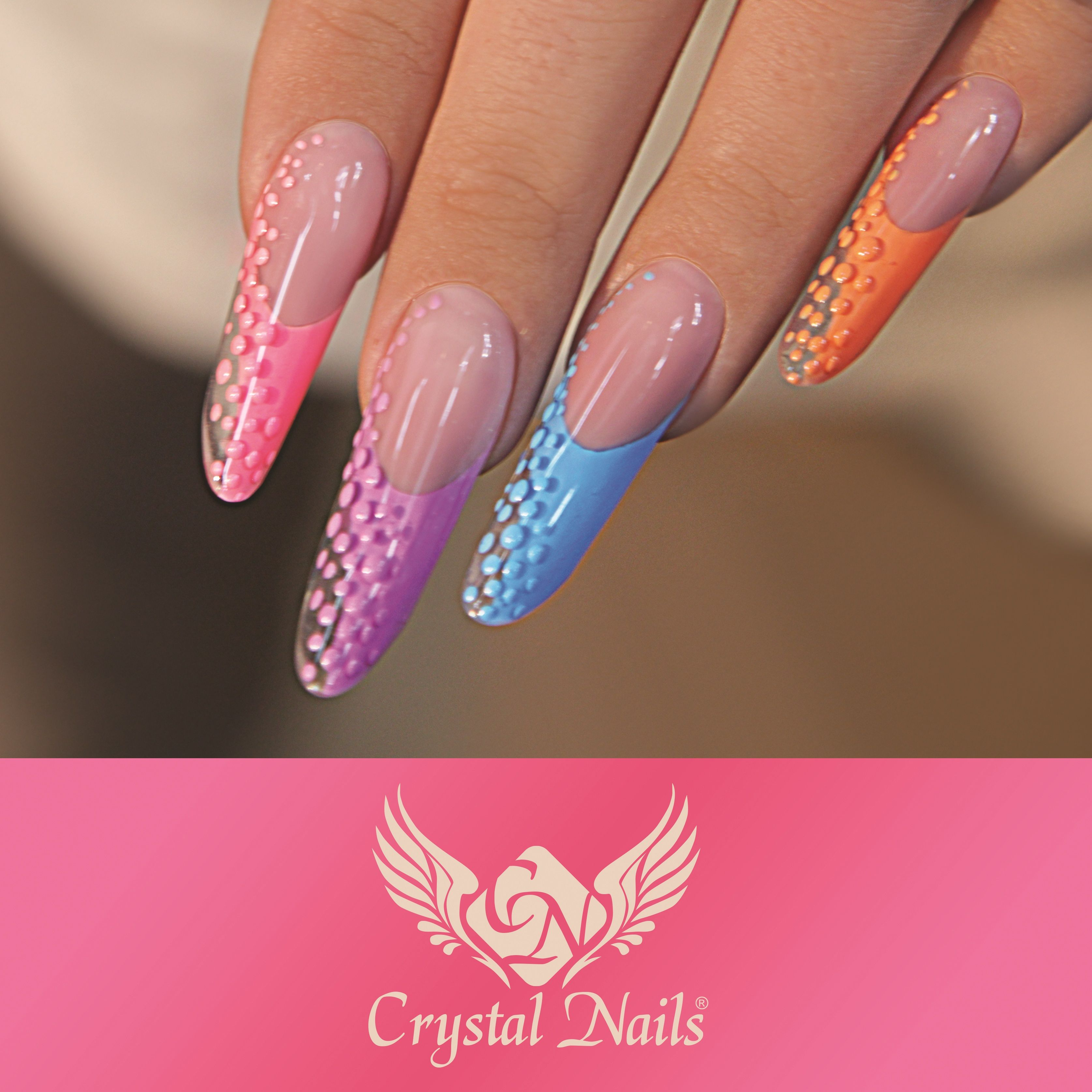 Crystal Gel Nail Video: Pipe Nails With Crystal Nails Royal #gel (cleansing Free