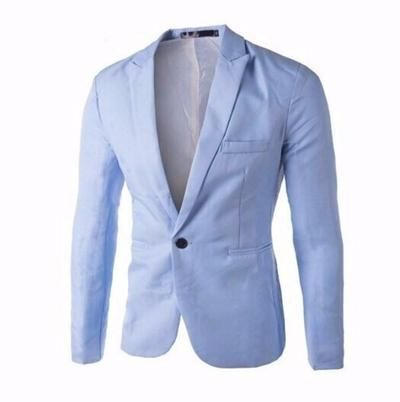 Winwinus Mens Solid Colored One Button Casual Wedding Silm Fit Sport Coat Blazer