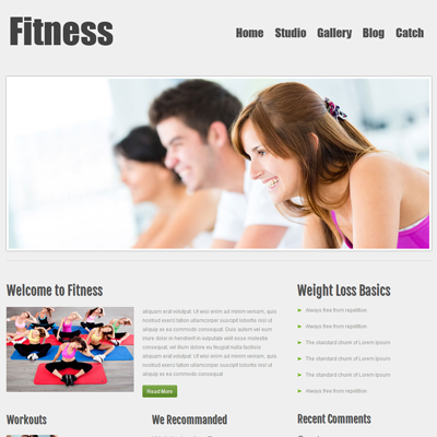 Fitness Free #Responsive #HTML5 #CSS3 #Mobileweb Template ...