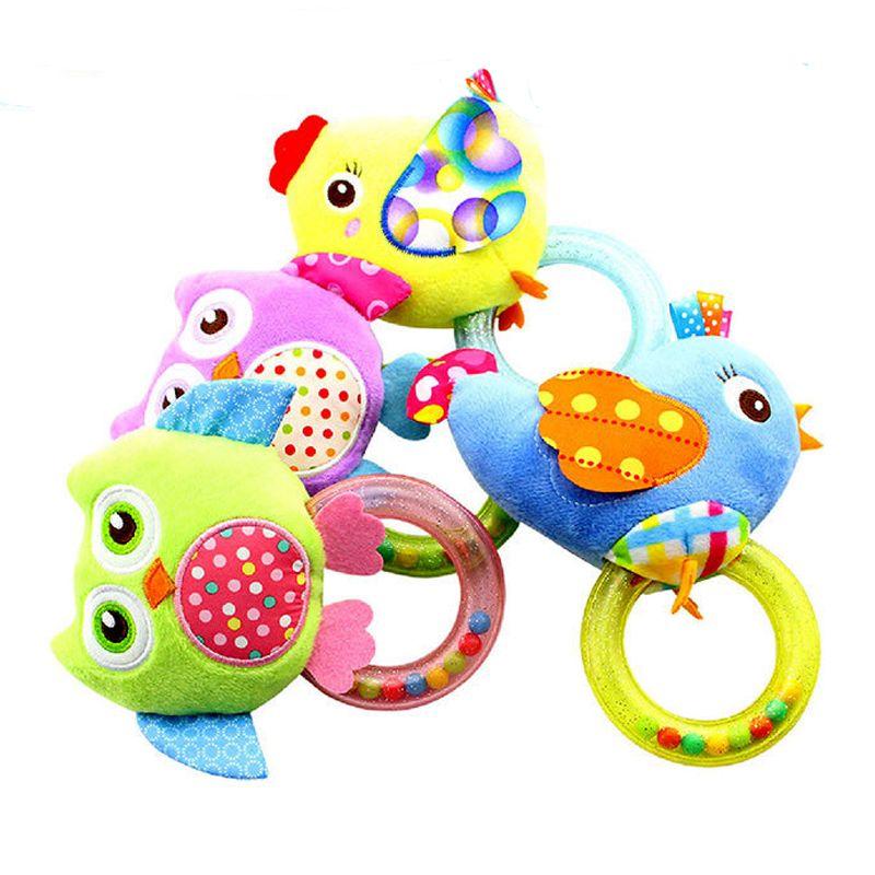 0 3 Y Baby Rassel hand Glocke Spielzeug 5 Stil Eule Vogel