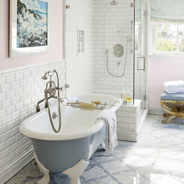 Bathgoals Who Would Want A Bubble Bath In This Tub We Do But We Might Never Leave And Just Decide To Beco Floor Tile Design Stylish Bathroom Small Bathroom