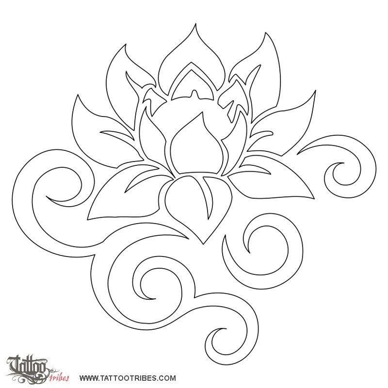 tatuaggio di loto tribale bellezza e forza tattoo custom tattoo designs on. Black Bedroom Furniture Sets. Home Design Ideas