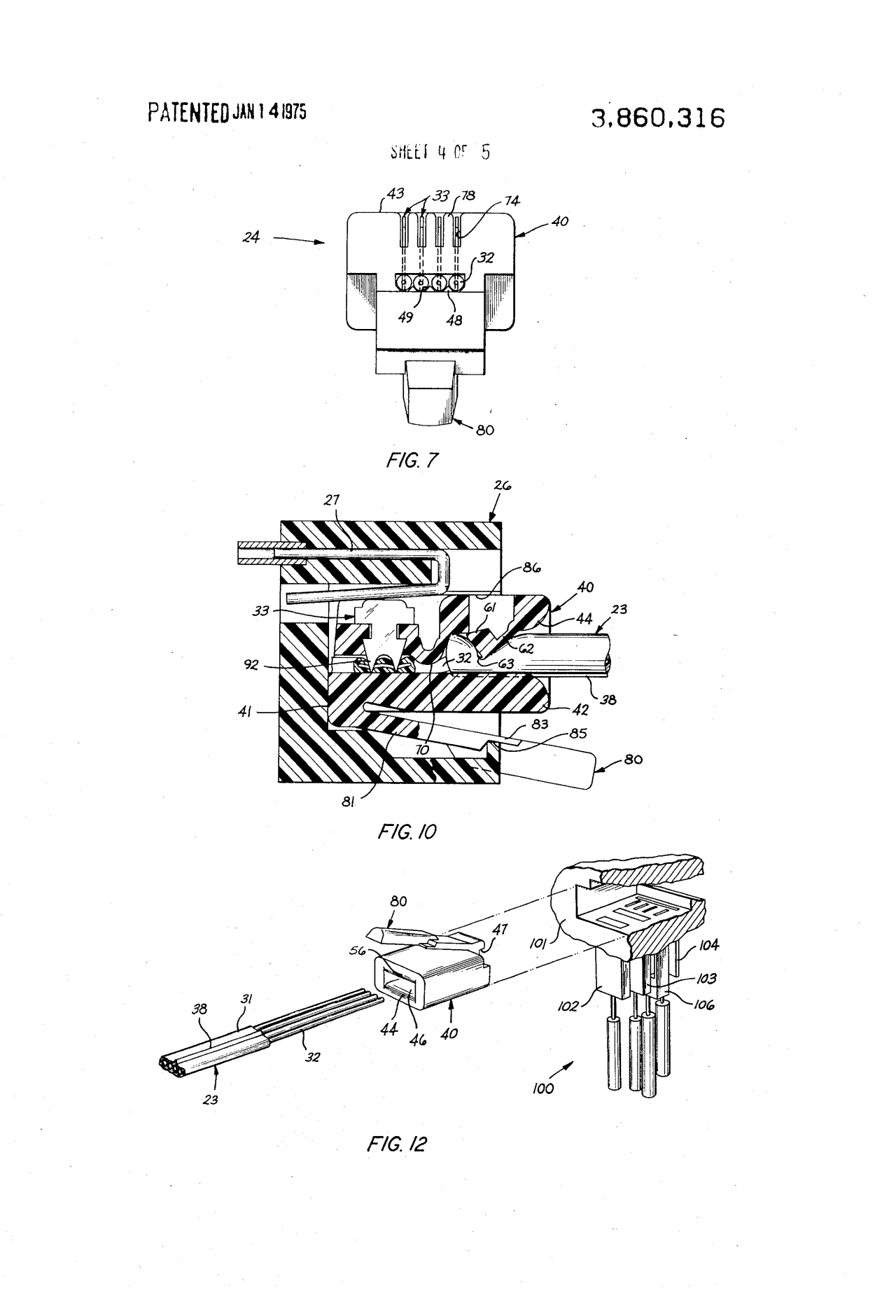 Figures From Us Patent For The Rj11 Telephone Jack