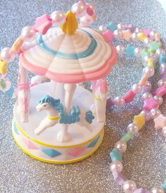 Magic Carnival Pastel Carousel Necklace With By