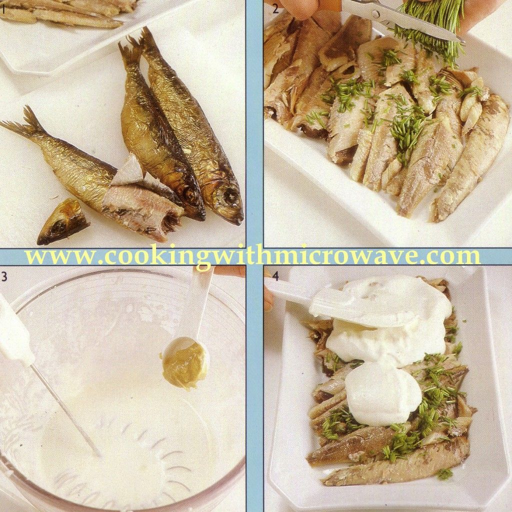Smoked Herring With Sour Cream Sauce For Microwave Sour Cream Sauce Cream Sauce Sour Cream