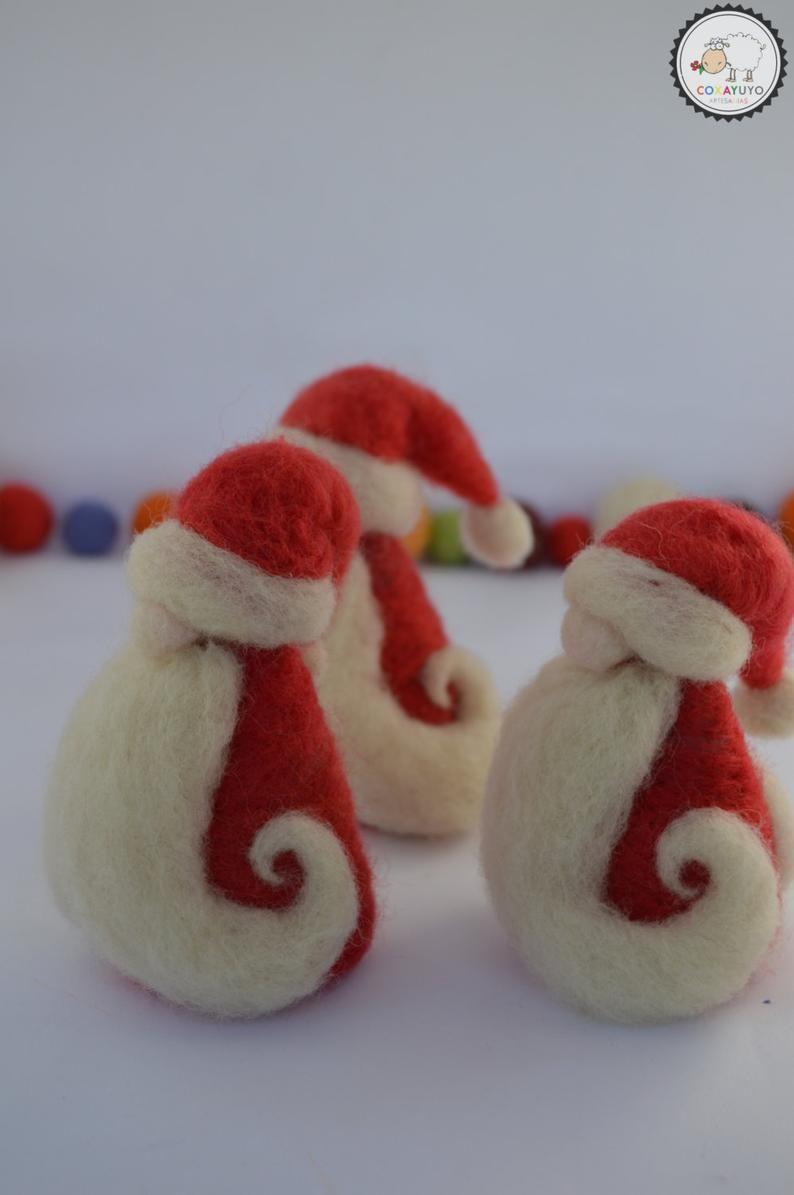 Needle felted Santa Claus, Felted Santa, Christmas