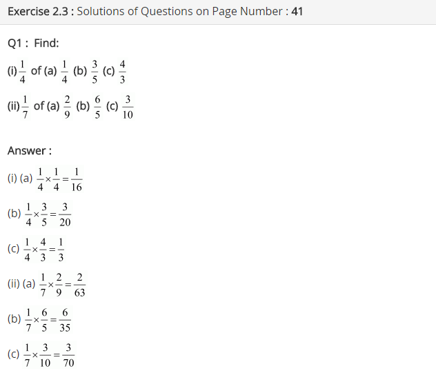 Ncert Solutions For Class 7 Maths Fractions And Decimals Exercise
