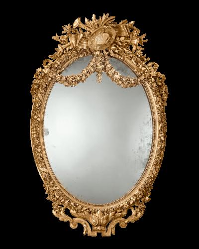Antique Mirror Napoleon Iii Period Louis Xvi Woodwork French At Rauantiques Com Mirror Antiques Gold Baroque