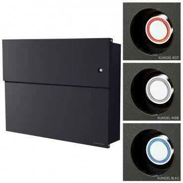 Radius Briefkasten Letterman XXL 2 schwarz mit LED-Klingel ...