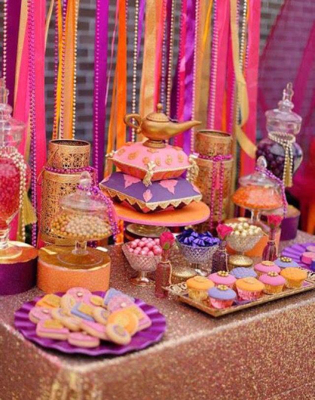 Candy bar hindu   Parties en 2019   Jasmine party, Arabian ...