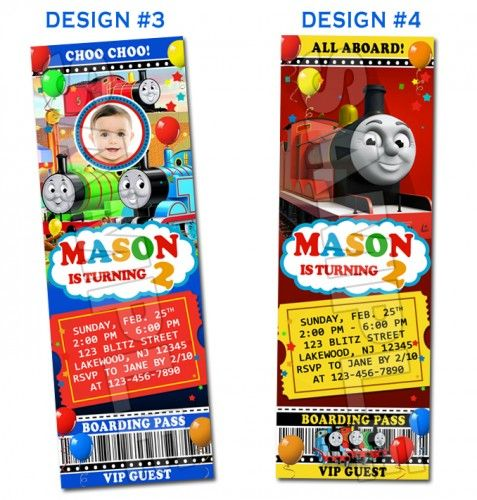 thomas the train and friends birthday ticket invitations printable, Party invitations