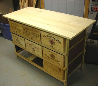 Wine crates on pinterest wine crates crates and crate for Wine crate furniture