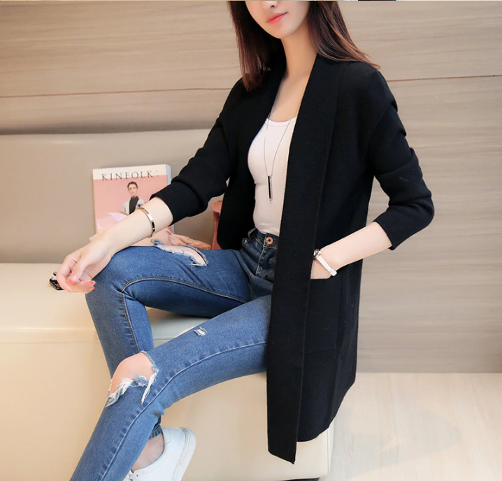 e4ed447c25 New Spring Autumn Knitted Sweater Cardigan Women Winter Jacket Loose Big  Yards Joker Casual Long Sweaters Coat Harajuku.PRE-ORDER price: US $10.94 -  20.13 ...