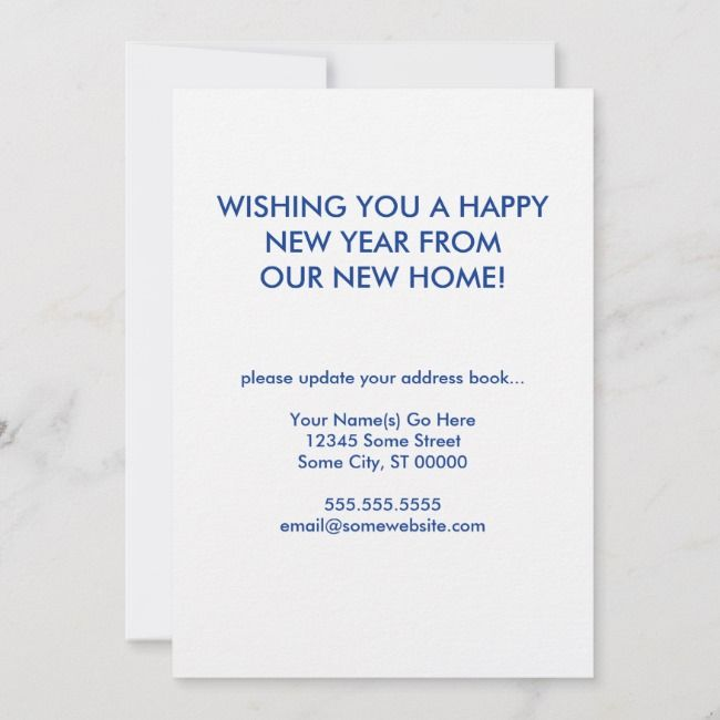happy new year new address announcement | Zazzle.com (With ...