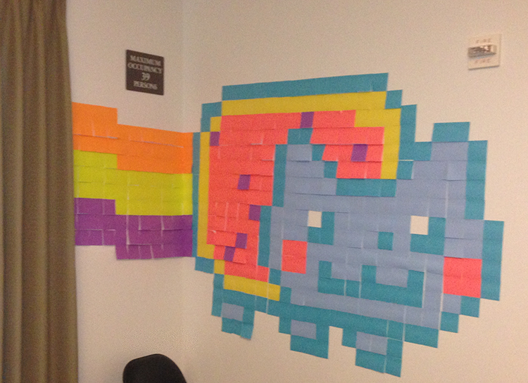Dma How To Creating Pixel Art With Post It Notes Pixel Art Notes Art Post It Art