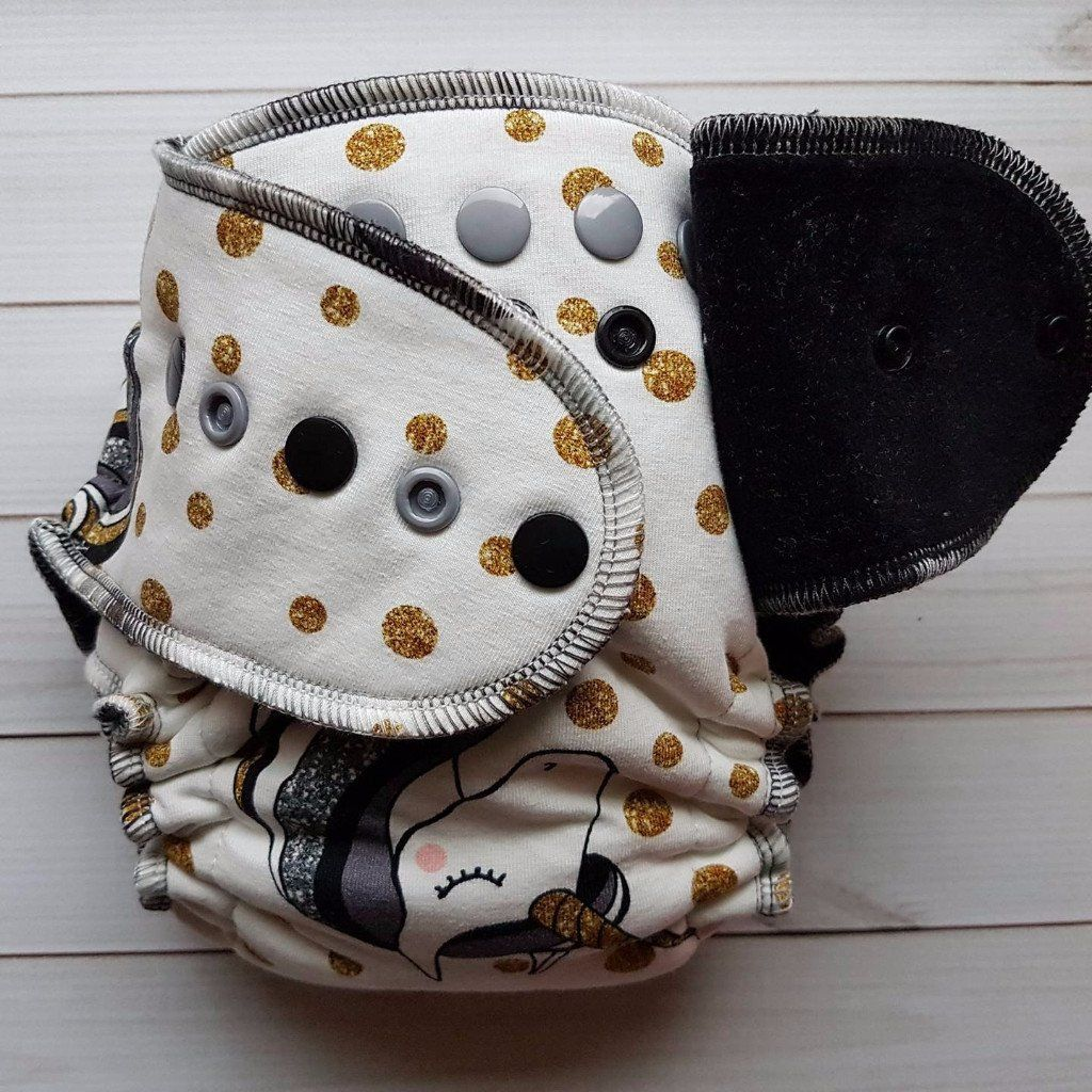 Believe in magic with images fitted cloth diapers