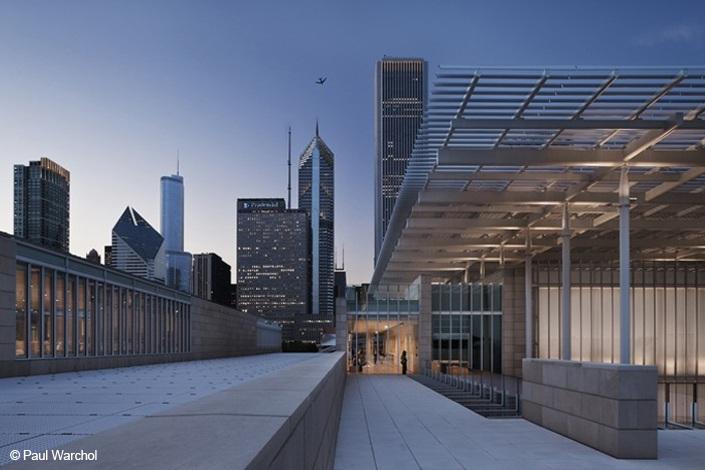 Art Institute Of Chicago Modern Wing And Nichols Bridgeway Turner Construction Company Art Institute Of Chicago Architecture Art Institutes