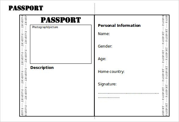 Passport Template – 19+ Free Word, PDF, PSD, Illustrator Format ...
