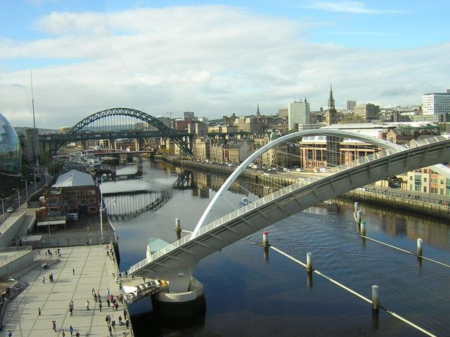 aerial photographs of Newcastle upon Tyne