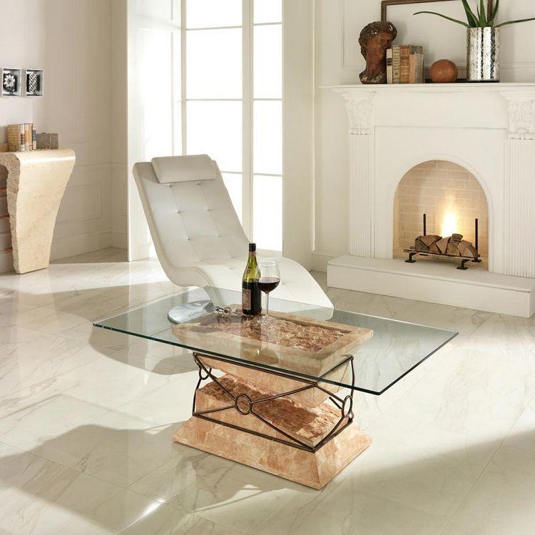 20 Couchtische Aus Stein Und Fossilstein In Modernem Design Neu Haus Designs Table Basse En Pierre Table Basse Moderne