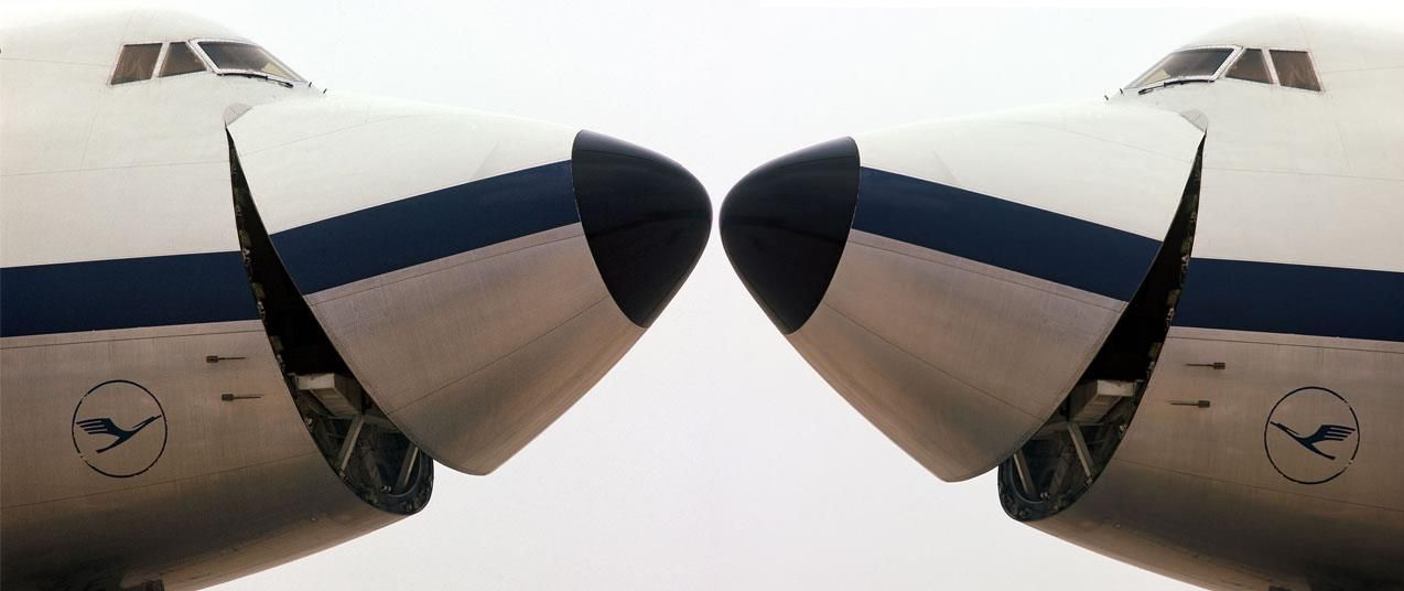 Lufthansa B747F Flugzeug, Luftfahrt und Fliegen
