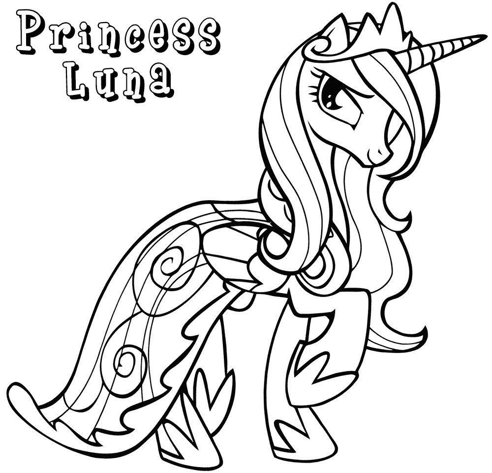 Princess Luna Coloring Pages Coloring pages, Cute