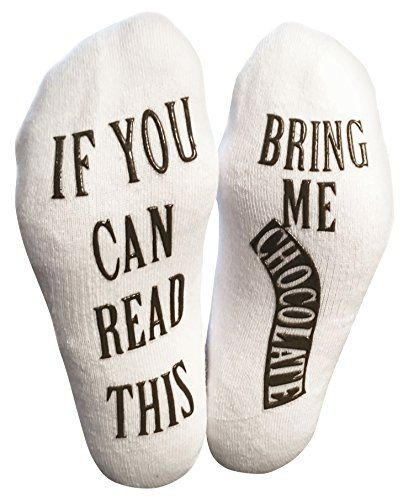 If You Can Read This Bring Me Chocolate Novelty Socks With