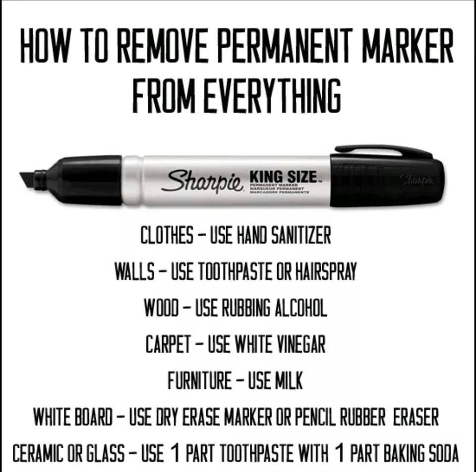 For Those Of You With Kids Or Who Act Like Kids Like Me I Don T Wanna Talk About It Imgur Useful Life Hacks Cleaning Hacks How To Remove Sharpie