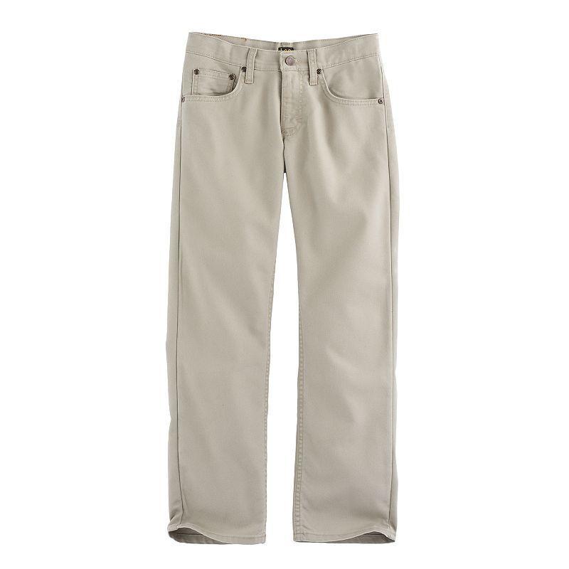 fc1070fc Boys 8-20 Lee Straight-Fit Stretch Jeans, Size: medium (16), Beig/Green  (Beig/Khaki)