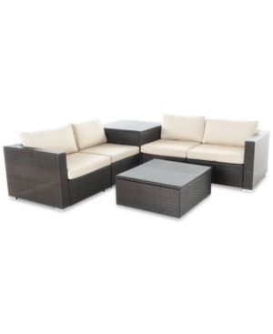 Malibu Outdoor 6-Pc. Sofa Set, Quick Ship - Brown   Sofa ...