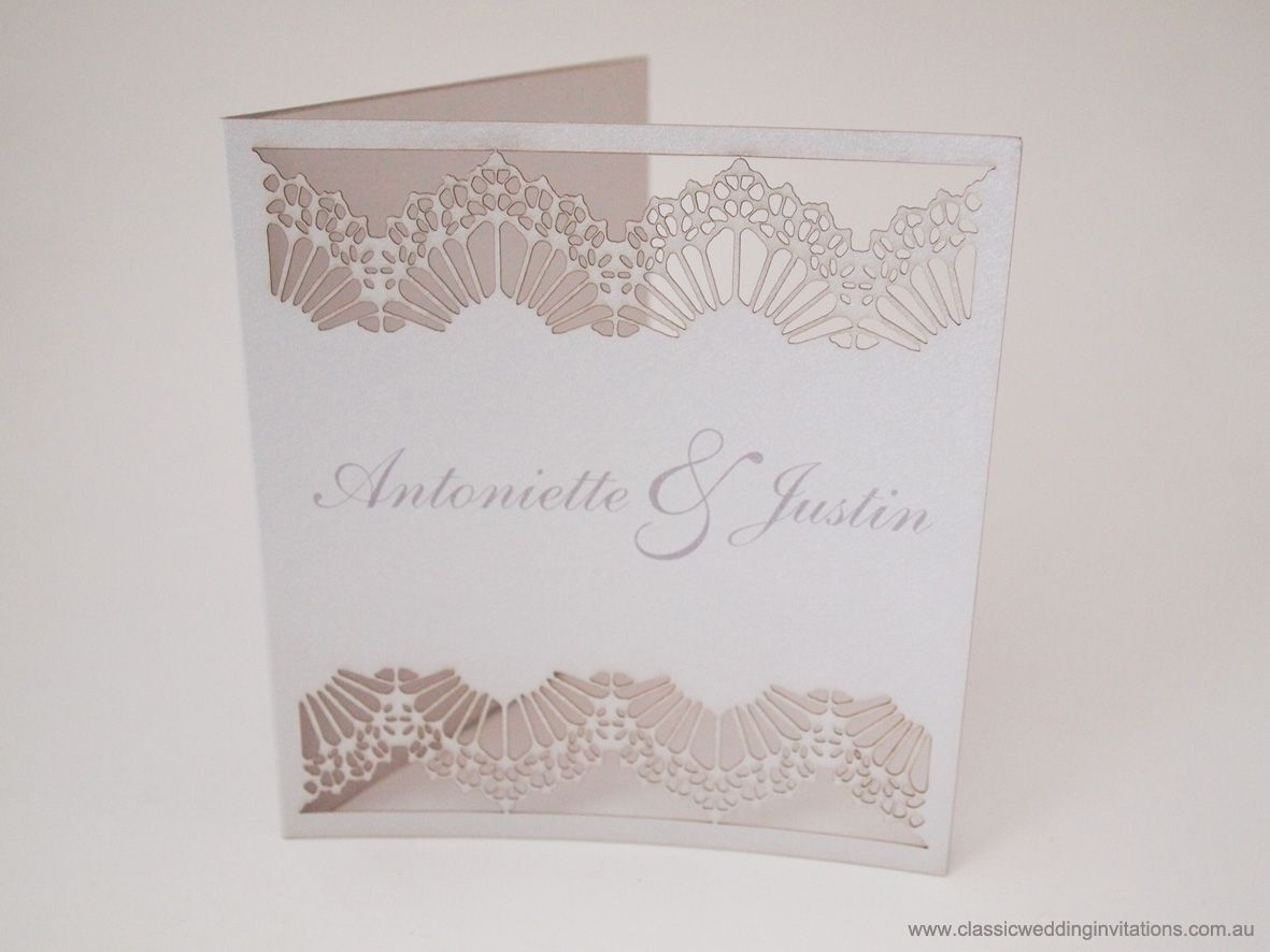 Laser cutting intricate wedding invitation- http://www ...