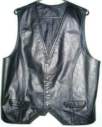 96be92ec3 chaleco cuero cuerosol varios colores vestir o moto. fabrica ...