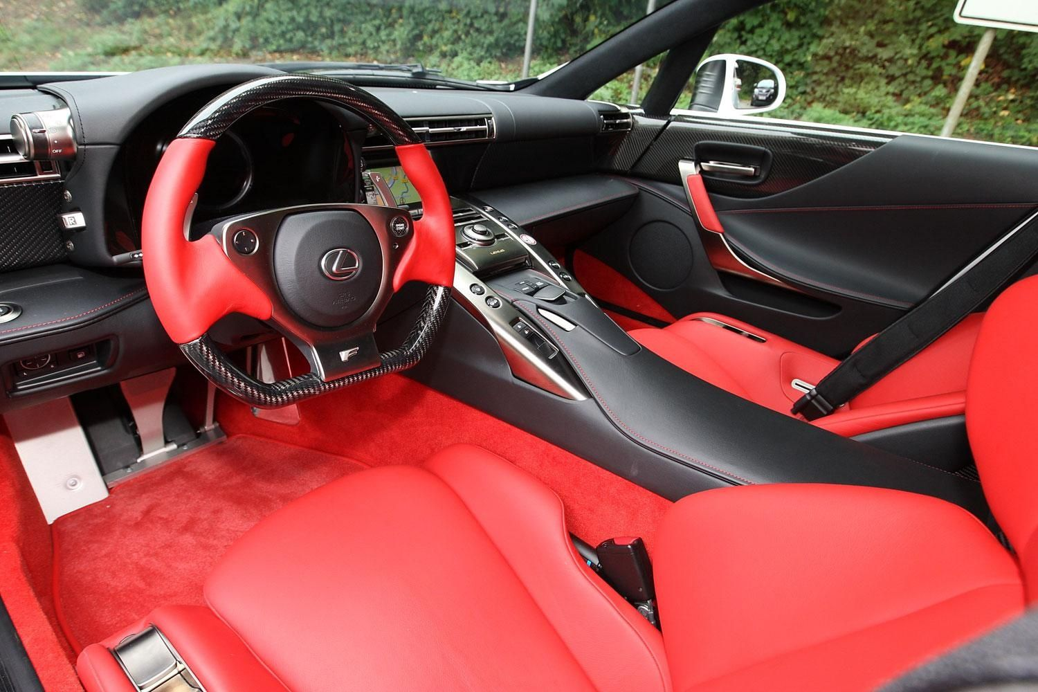 Interior Of The Lexus LFA   Sweetness.