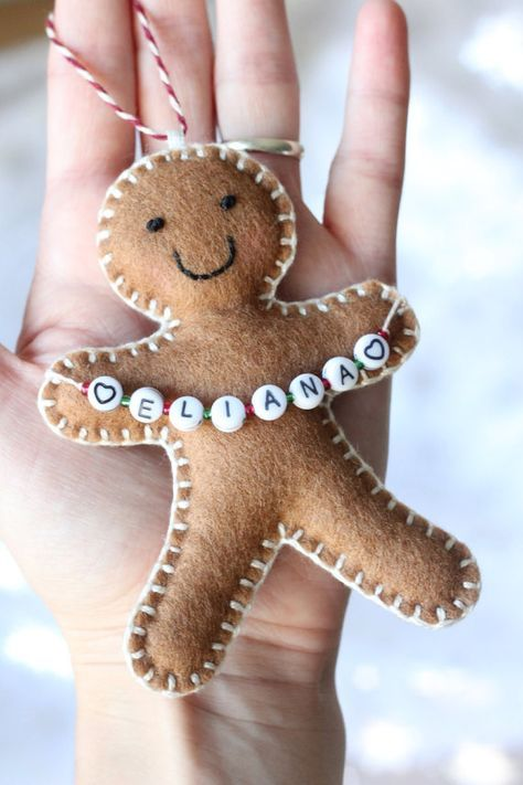 Trendy Diy Christmas Felt Ornaments Gingerbread Man Ideas #feltchristmasornaments