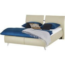Photo of Upholstered bed Irina ¦ cream ¦ Dimensions (cm): W: 208 H: 110 openers