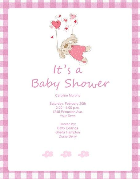 Baby Shower Invitations For Girls Pink Puppy Dog Baby Shower - Pink baby shower invitation templates