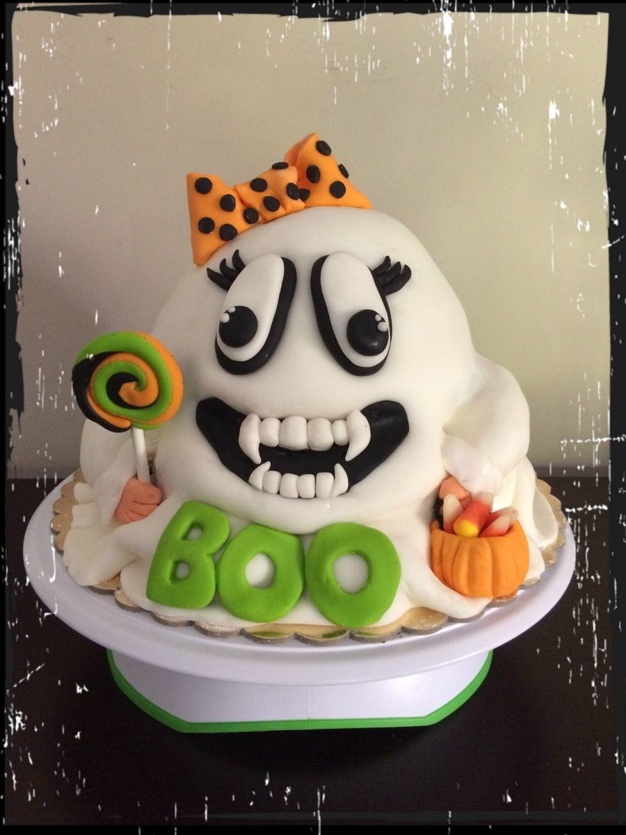 Vampire Ghost Cake Happy Halloween Ghost Cake Halloween Fondant