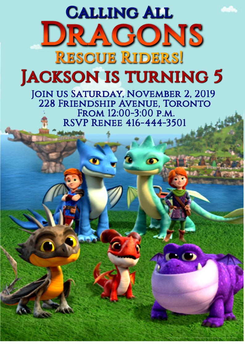 Dragons Rescue Riders Birthday Invitation Digital Download Etsy In 2020 Dreamworks Dragons Animated Dragon How Train Your Dragon