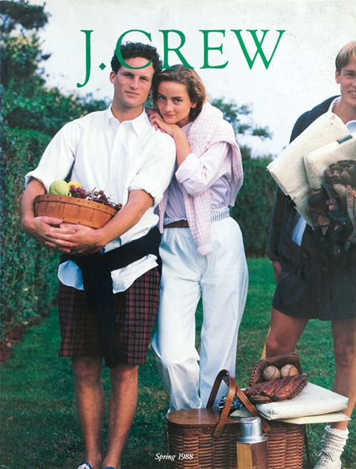 J. Crew's Spring 1988 cover #style #jcrew Wow, the year I was born....lol