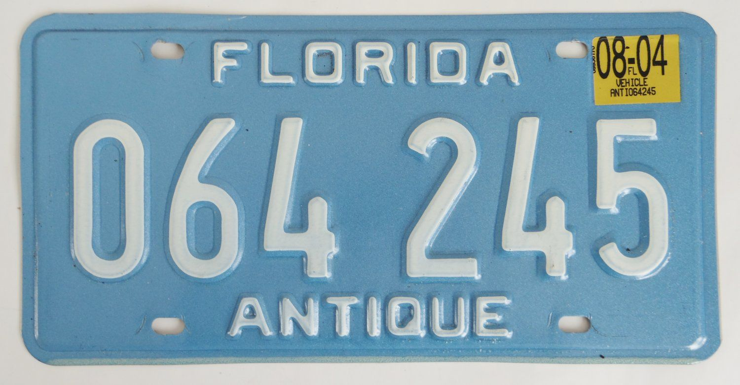 2004+Florida+Antique+Car+License+Plate+064245 $16.99 Free shipping ...
