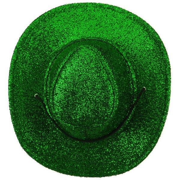 Saint Patrick s Glitter Cowboy Hat Green (190 ZAR) ❤ liked on Polyvore  featuring accessories 355b9460ea6